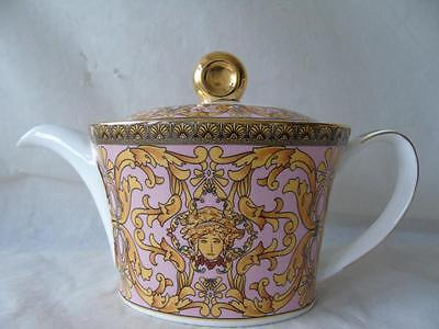 Rosenthal Versace Medusa Pink Large Teapot & Cover