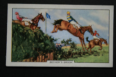 Becher's Brook  Aintree Grand National Vintage Horse Racing Card # VGC