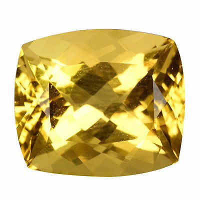 8.210 Cts Amazing Luster Yellow Natural Citrine Cushion Loose Gemstones