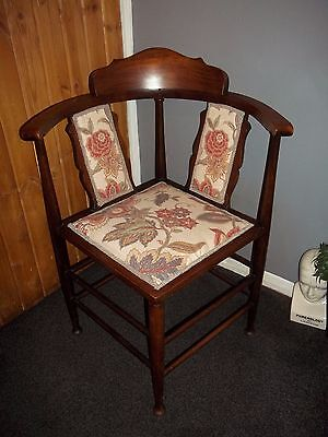 Antique Edwardian Corner Chair