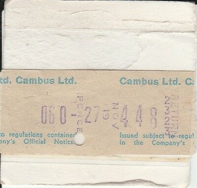 Setright Speed ticket. Cambus Ltd. 1 ticket.