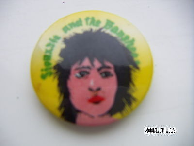 Siouxsie And The Banshees Pop Music Picture Badge