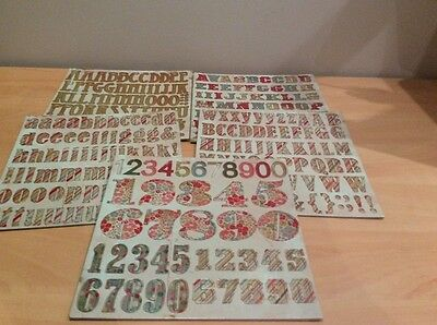 Chipboard Lettes And Number (5 Packs)