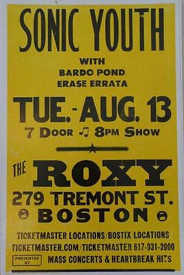 Sonic Youth Boston 2002 Concert Poster Cardboard Original Rare