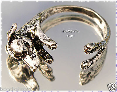 Greyhound Lurcher Ring. Adjustable. Whippet, Italian Greyhound. Gift Wrapped xXx