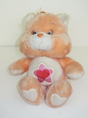 "RARE  Vintage 1985  Proud Heart Cat    Care Bear Cousins   13"" Soft Toy  Kenner"