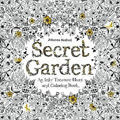 Christmas Gift 96 Pages Secret Garden An Inky Treasure Hunt and Coloring Book