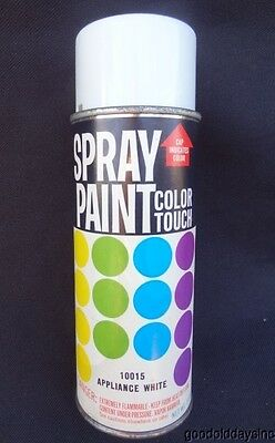 Rare Vintage 1971 Spray Paint Can Color Touch with Paper Label