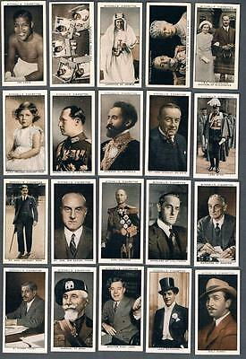 1936 Mitchell's Cigarettes A Gallery of 1935 Tobacco Cards Complete Set of 50