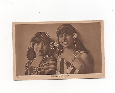 Bedouines Fillettes Young Girls in traditional Costume  (L & L)
