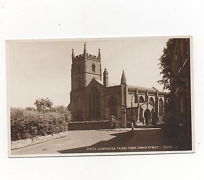 Leominster Priory From Church Street,Herefordshire,RPPC (Judge Ltd)