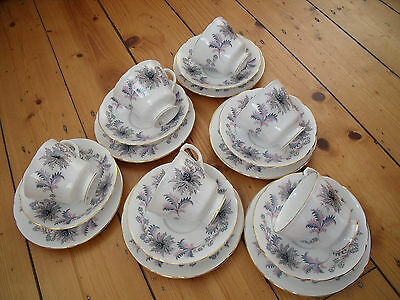 Collectable Beautiful China Royal Standard Mistique Pattern 18 Piece Tea Set