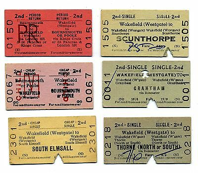 Railway tickets BTC/BRB 6 X Wakefield (Westgate) to various.