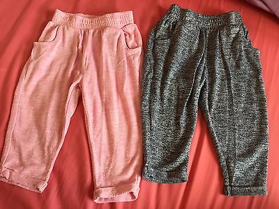 Baby Girls Next Trousers Pink Blue/grey 9-12 Months