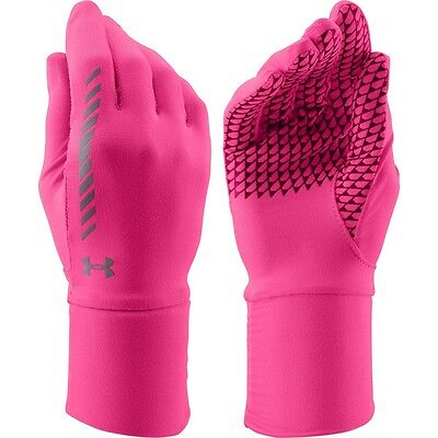 Under Armour Women's Layered Up Liner Gloves Rebel Pink / reflective L/XL