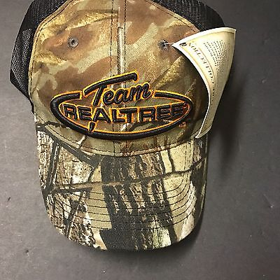 Team RealTree Camouflage Summer Ball Cap Embroidered Black/Camo New