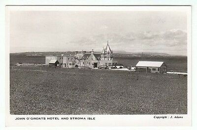 A Lovely Unspoilt View Of John O' Groats Hotel & Stroma Isle Pre Tourism RP