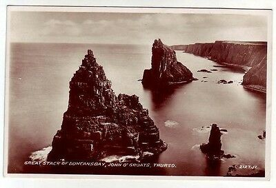 Great Stack Duncansby John O'Groats Thurso 1881 Real Photograph Russell Leslie