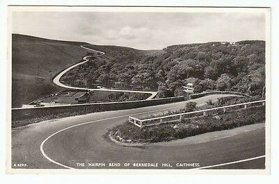 Hairpin Bend Of Berriedale Hill Caithness Real Photograph JB White A4253 Old PC