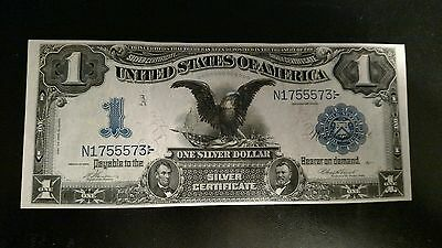 1899 $1 Silver Certificate Black Eagle Banknote Us Note