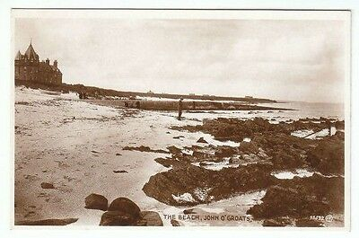 The Beach John O' Groats Caithness 1925 Real Photograph Published 1935 Valentine