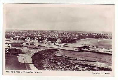 Thurso Caithness General View From The Castle Real Photograph Adams Old Postcard