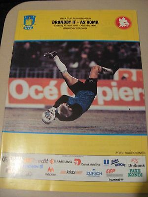 1990-91 Brondby IF v AS Roma UEFA Cup 10.4.1991