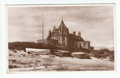 John O'Groats Hotel Caithness Real Photograph M&L National Series Old Postcard