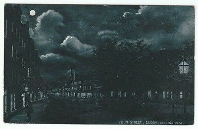 High Street Elgin Moray Moonlit 31 Mar 1906 Jarvis Marsland Road Manor Place