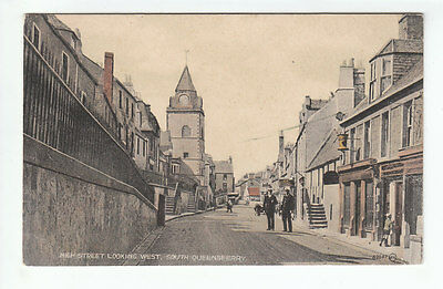 High Street South Queensferry West Lothian 1923 Valentines 89947 Old Postcard