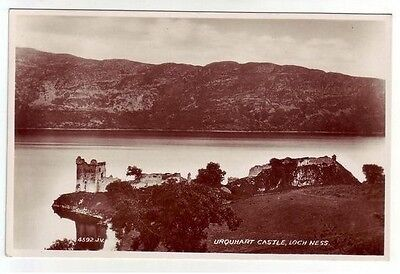 Urquhart Castle Loch Ness Inverness Real Photograph Registered 1884 Pub. 1934