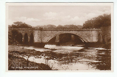 The Tongland Telford Bridge Kirkcudbright Real Photograph Old Postcard Scotland