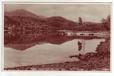 Peaceful Reflections Loch Garry Inverness-shire Real Photograph A3239 JB White