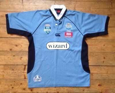 Nsw State Of Origin New South Wales Blues 2008 Centenary Replica Rugby Shirt 12