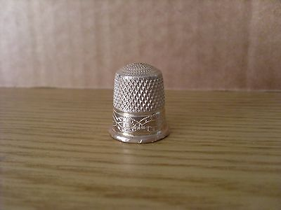 Silver Thimble  Swann  Birmingham  Collectors Guild Nice Example