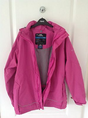 Trespass Girls Tres Shield Outdoor Waterproof Hooded Jacket 11-12 Years Pink