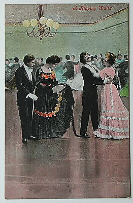 A RIPPING WALTZ, Dancing - 1900's - Vintage postcard