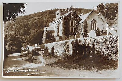 SELWORTHY CHURCH, Somerset RP - 1950's - Vintage postcard