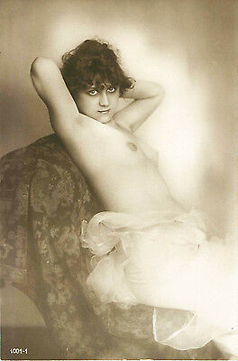 FRENCH REAL PHOTO NUDE, RPPC, FRANCE, VINTAGE POSTCARD, Series #1001-1