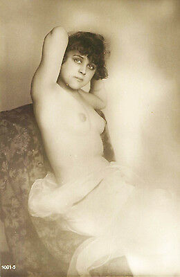 FRENCH REAL PHOTO NUDE, RPPC, FRANCE, VINTAGE POSTCARD, Series #1001-5
