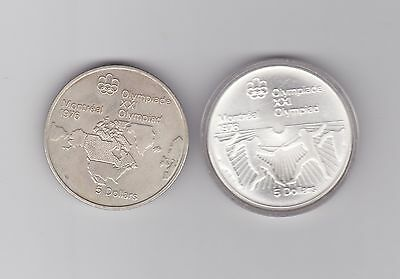 2 Olympic Silver 5$ Coins