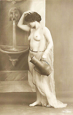 FRENCH REAL PHOTO NUDE, RPPC, FRANCE, VINTAGE POSTCARD, Series #1020-5