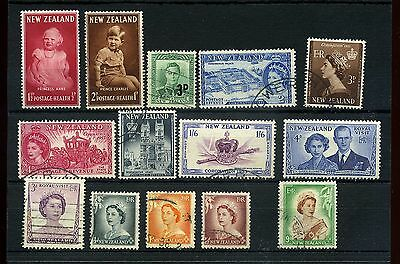 New Zealand.14 --1952/3 Mounted Mint/ Used Stamps On Stockcard