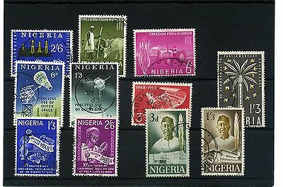 Nigeria.11 -- 1962/3 Fine Used Stamps On Stockcard