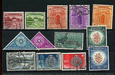 Pakistan 13 -- 1961  Used Stamps On Stockcard