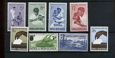 Papua New Guinea.8 --Unmounted Mint 1964 Stamps On Stockcard