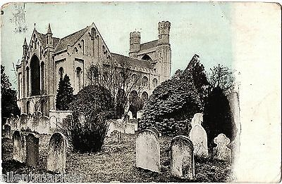 Thorney Abbey, North-East, old postcard, unposted