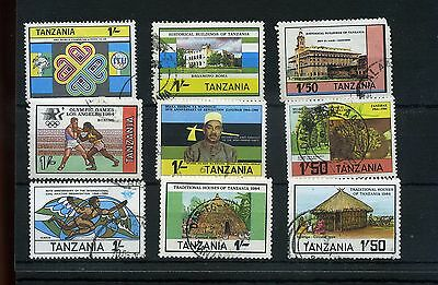 Tanzania.9-- 1983/4 Used Stamps On Stockcard