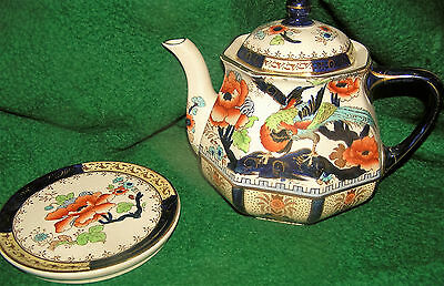 Losol Ware SHANGCHAI Pattern 2458 Tea Pot with Damage and Stand 1912-1936