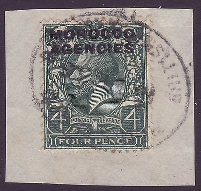 MOROCCO AGENCIES, 4d GREY-GREEN, SG59, USED ON PIECE, 1936